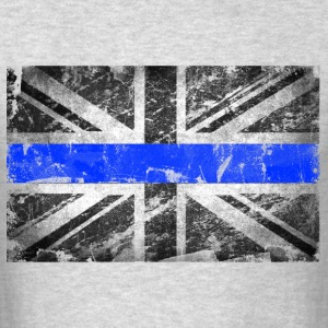 tattered distressed thin blue line flag vintage GB - Men's T-Shirt