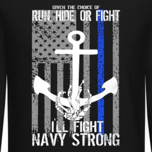 Navy Strong Shirt - Crewneck Sweatshirt