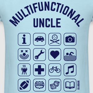 Multifunctional Uncle (16 Icons) T-Shirts - Men's T-Shirt