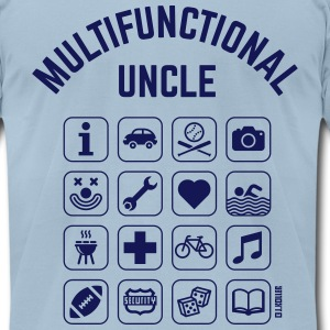 Multifunctional Uncle (16 Icons) T-Shirts - Men's T-Shirt by American Apparel