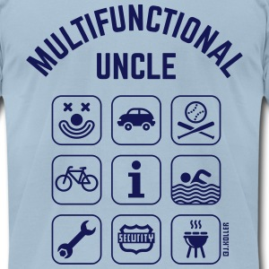 Multifunctional Uncle (9 Icons) T-Shirts - Men's T-Shirt by American Apparel