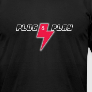 plug and play T-Shirts - Men's T-Shirt by American Apparel