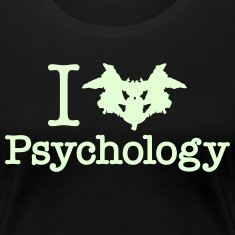 I Heart (Rorschach Inkblot) Psychology Women's T-Shirts