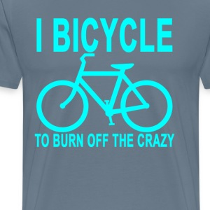 bicycle_to_burn_off_the_crazy - Men's Premium T-Shirt