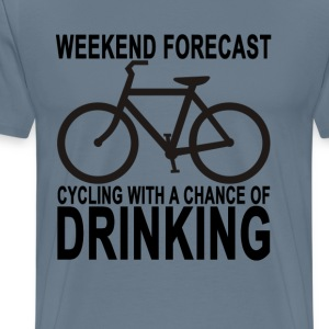 weekend_forecast_cycling - Men's Premium T-Shirt
