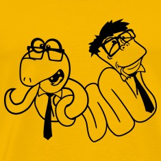 2 brothers buddies team crew glasses snakes bookwo T-Shirts