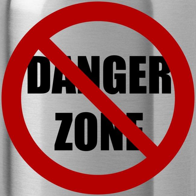 Danger Zone Free Zone Water Bottle