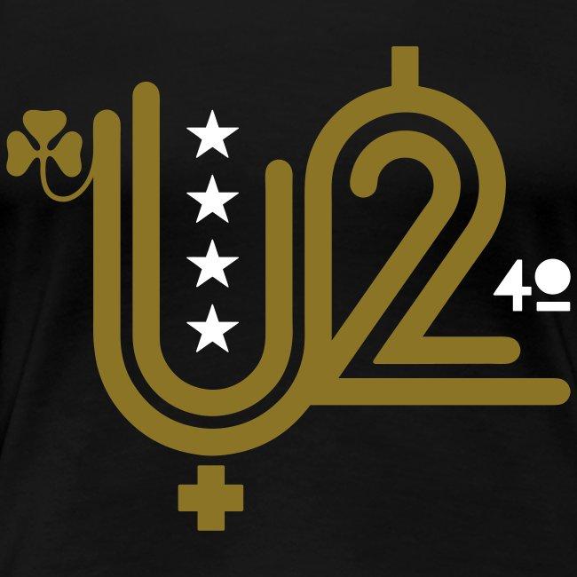 U+2=40 - front print gold - s/3xl