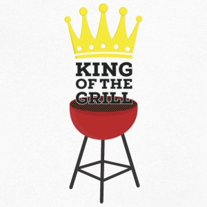 King of the grill T-Shirts - Men's V-Neck T-Shirt by Canvas