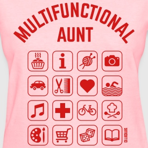 Multifunctional Aunt (16 Icons) Women's T-Shirts - Women's T-Shirt
