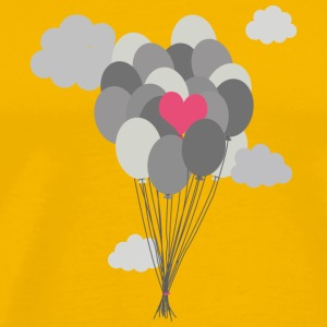 heart balloon between gray ballons T-Shirts - Men's Premium T-Shirt