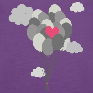 heart balloon between gray ballons Tanks - Women's Premium Tank Top