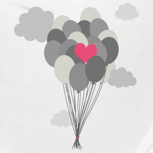heart balloon between gray ballons Caps - Bandana