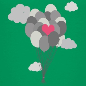 heart balloon between gray ballons Kids' Shirts - Kids' Premium T-Shirt