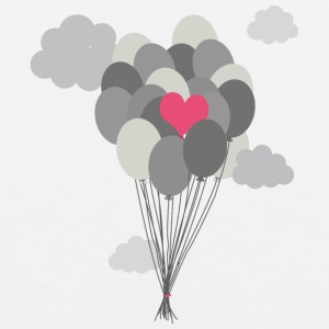 heart balloon between gray ballons Sportswear - Men's Premium Tank