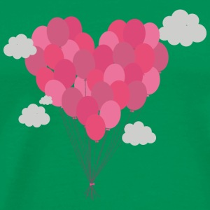 Balloons arranged as heart T-Shirts - Men's Premium T-Shirt