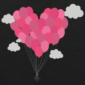 Balloons arranged as heart Sportswear - Men's Premium Tank