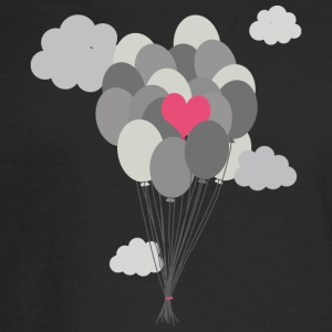 heart balloon between gray ballons Long Sleeve Shirts - Men's Long Sleeve T-Shirt