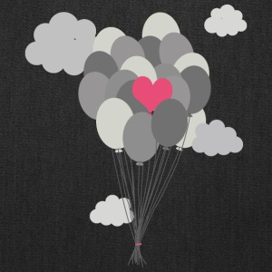 heart balloon between gray ballons Bags & backpacks - Tote Bag