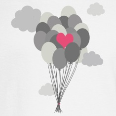 heart balloon between gray ballons Long Sleeve Shirts