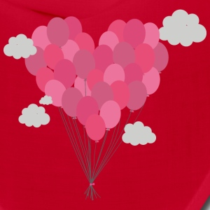 Balloons arranged as heart Caps - Bandana