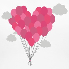 Balloons arranged as heart Women's T-Shirts