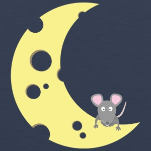 mouse on the cheese moon Sportswear - Men's Premium Tank