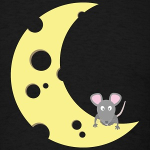 mouse on the cheese moon T-Shirts - Men's T-Shirt