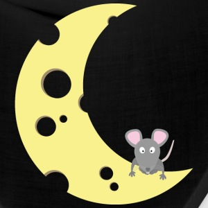 mouse on the cheese moon Caps - Bandana