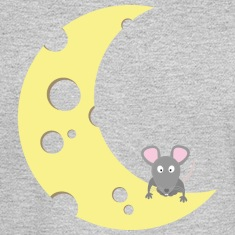 mouse on the cheese moon Long Sleeve Shirts