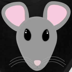 sweet gray mouse face Caps - Bandana