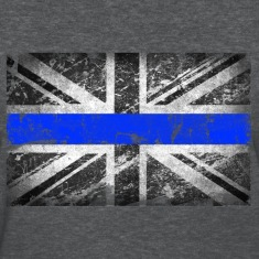 tattered distressed thin blue line flag vintage GB