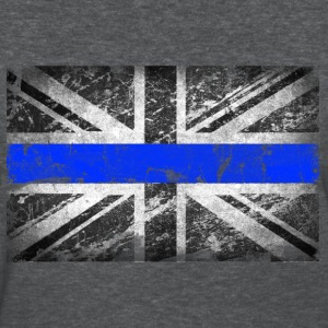 tattered distressed thin blue line flag vintage GB - Women's T-Shirt