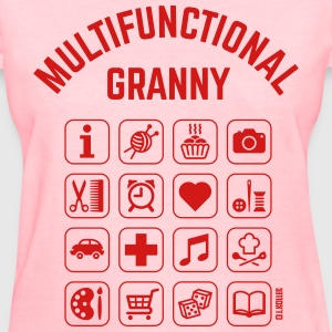 Multifunctional Granny (16 Icons) Women's T-Shirts - Women's T-Shirt