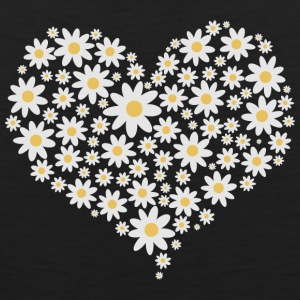 Heart of white flowers Sportswear - Men's Premium Tank