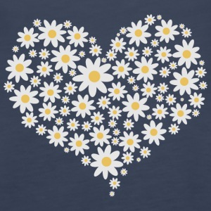 Heart of white flowers Tanks - Women's Premium Tank Top