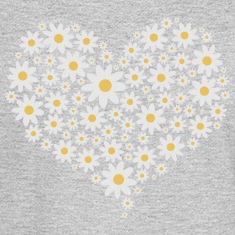 Heart of white flowers Long Sleeve Shirts