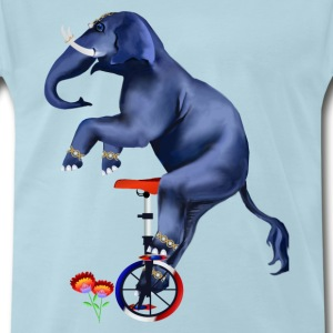 Elephant-Unicycle - Men's Premium T-Shirt