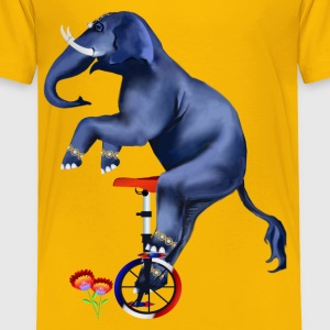 Elephant-Unicycle - Toddler Premium T-Shirt
