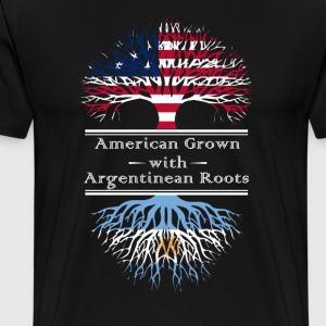 American Grown With Argentinian Roots Great Gift - Men's Premium T-Shirt