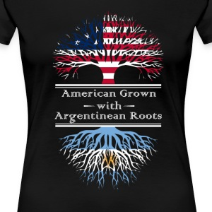 American Grown With Argentinian Roots Great Gift - Women's Premium T-Shirt