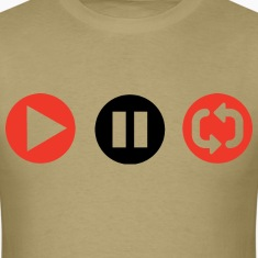 Play Pause Repeat T-Shirts