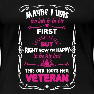 Girl Loves Her Veteran - Women's Premium T-Shirt