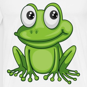 Smiling Cartoon Frog - Men's Premium T-Shirt