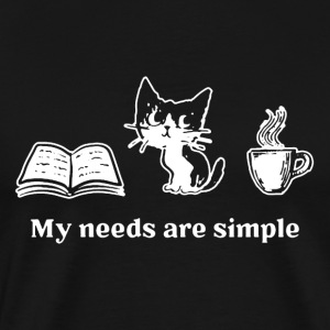 Good Book Cat And Coffee - Men's Premium T-Shirt