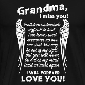 Grandma I Miss You - Men's Premium T-Shirt