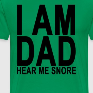 dad_snores_tshirt - Men's Premium T-Shirt