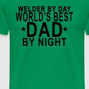 worlds_best_dad__welder_tshirt_ - Men's Premium T-Shirt