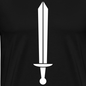 Monochrome sword T-Shirts - Men's Premium T-Shirt