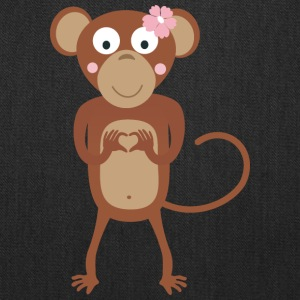 amorous female monkey with flower Bags & backpacks - Tote Bag
